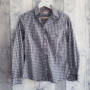 Banana Republic noniron fitted gingham button down